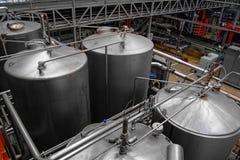 Piwny fabryczny wnętrze Fotografia Stock