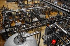 Piwny fabryczny wnętrze Zdjęcie Stock