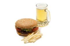 piwny hamburger Zdjęcia Royalty Free