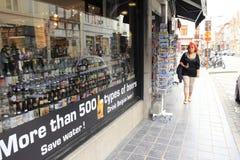 Piwny sklep Bruges Belgia Obraz Royalty Free