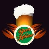 Piwo domowy emblemat Zdjęcie Stock
