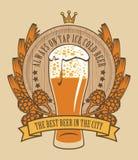 Piwo na klepnięciu Fotografia Stock