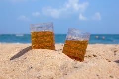 Piwo na seacoast Zdjęcie Stock