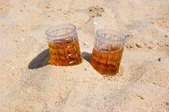 Piwo na seacoast Obraz Stock