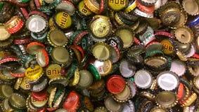 Piwo nakrętki Obrazy Royalty Free