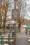 Piwo ogród w zimie Zdjęcie Royalty Free