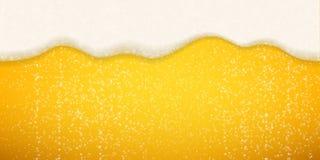 Piwo piana gulgocze tło Wektorowi realistyczni piwo piany lśnienia bąble ilustracja wektor