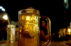 Piwo przy nocą Fotografia Stock