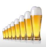 piwo pusty folował szkło jedną sekundę Zdjęcie Stock