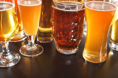 piwo pusty folował szkło jedną sekundę Fotografia Stock