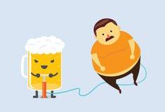 Piwo robi ci sadłu Fotografia Stock