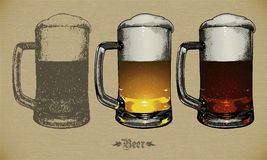 Piwo set Zdjęcia Royalty Free