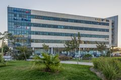 PIWO SHEVA, IZRAEL - PAŹDZIERNIK 20 2017 Był ` Sheva nowożytny zaawansowany technicznie centrum w Izrael er Obraz Stock