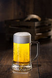 piwo tła szklankę jasnożółty Obrazy Stock