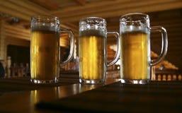 piwo trzy Fotografia Stock