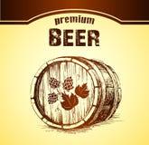 Piwo z chmielem baryłka Obraz Stock