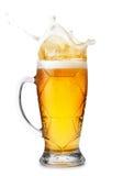 Piwo z pluśnięciami Obraz Royalty Free
