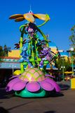 Disneyland Pixar Parade Bugs Life. Pixar animated characters from Bugs Life are featured in Disneyland Parade Royalty Free Stock Photo