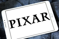 Pixar logo. Logo of the American computer animation film studio pixar on samsung tablet Royalty Free Stock Image
