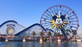 Pixar Pier and Paradise Gardens Park in Disney amusement park. Pixar Pier and Paradise Gardens Park in California Adventure Disney Park, Anaheim, California stock photos