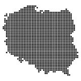 PIXELöversikt av Polen Vektor Illustrationer