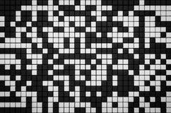 Pixelübertragen Schwarzweiss-Gitterhintergrund 3d mit Kopienraum Lizenzfreie Stockfotos