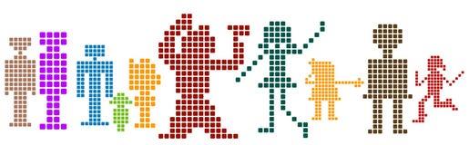 Pixel; illustrazione di stock