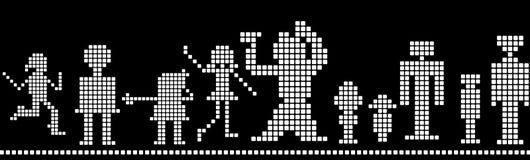 Pixel royalty-vrije illustratie