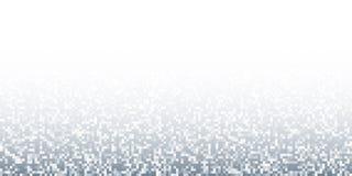 Pixel Abstract Gray Technology Gradient Horizontal Background Achtergrond van het bedrijfsmozaïek de lichte ontwerp met ontbreken Stock Fotografie