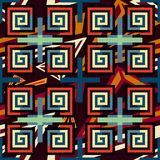 Pixel abstract naadloos geometrisch patroon Stock Foto's