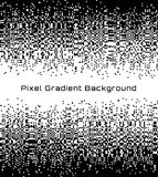 Pixel Abstract technology gradient center background. Business black white mosaic backdrop with failing pixels. Royalty Free Stock Images