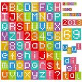 Pixel Alphabet Stock Photography