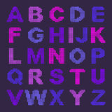 Pixel alphabet with colored letters Royalty Free Stock Photos