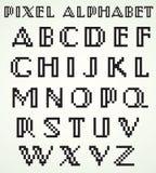 Pixelalphabet Lizenzfreie Stockbilder