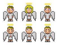 Pixel angels for game Stock Photography