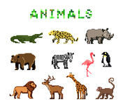 Pixel Animals Royalty Free Stock Images