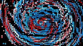 Pixel animation of colorful circle lines, cartoon style backdrop, computer generated background, 3d render royalty free illustration