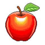 Pixel apple fruit detailed illustration isolated vector. Pixel art apple fruit detailed illustration isolated vector royalty free illustration