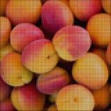 Pixel apricots Stock Photos