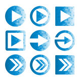 Pixel Arrow Icon Set Stock Photo