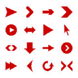Pixel arrow icons. Icons for the web site. Arrows in pixel style Royalty Free Stock Images