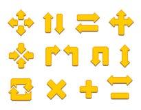 Pixel Arrows Royalty Free Stock Photo