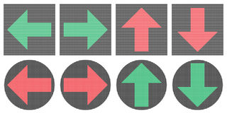 Pixel arrows icons. Royalty Free Stock Image
