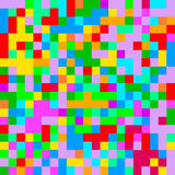 Pixel art. Abstract colorful pixel background. Stock Photos