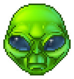 Pixel Art Alien Character Illustration Libre de Droits