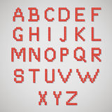 Pixel art alphabet Royalty Free Stock Photo