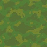 Pixel art army pattern Royalty Free Stock Photos