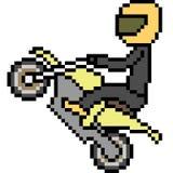Pixel art biker. Sport isolated Stock Photos