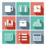 Pixel art bisiness icons Stock Photography
