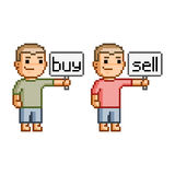 Pixel art buy and sell Stock Photos